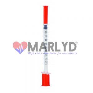 seringa insulina cu ac fix 1 ml
